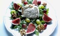 Burrata aux saveurs d'automne,figues, raisins, noix