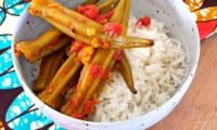 Fricassée de gombos aux épices douces