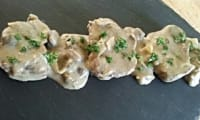 Filet mignon crème et champignons