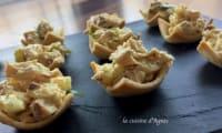 Tartelettes à la salade de poulet au curry