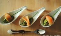 Cuillère apéritive au guacamole et saumon fumé