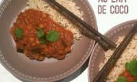 Curry Thaï au Lait de Coco, miso et coriandre
