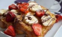 Brioche perdue banane, fraise et Nutella