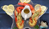 Homard mariné grillé à la sauce au persil avec Magimix