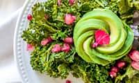 Salade avocat kale avec le Vitaliseur de Marion