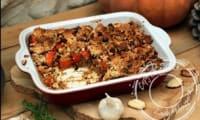 Potimarron rôti et crumble de noisette