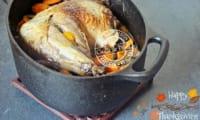 Cuisse de dinde rôtie en cocotte