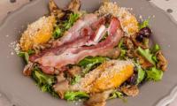 Gnocchi de potimarron aux cèpes et au jambon sec