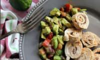 Ballotins de dinde au confit d'olive et sa salsa mexicana