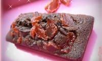 Financiers au chocolat noir et fraises séchées bio