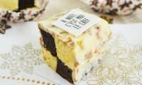 Mignardises de Noël en damier chocolat et vanille