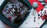 Fondant chocolat en papillote, aux fruits rouges