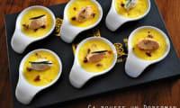 Crèmes brûlées vanillées aux tomates séchées et tartinables de la mer