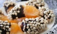 Clémentines en habit de chocolat au quinoa soufflé