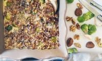 Gratin Choux de Bruxelles - Marrons, Noix et Fromage de Chèvre