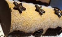 Bûche chocolat insert confit de poires
