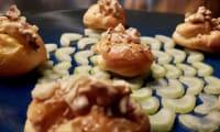 Mini-choux roquefort et noix