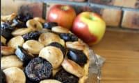 Tarte aux deux boudins et aux pommes
