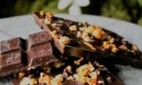 Chocolats aux pignons et popcorn caramélisés