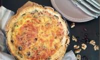 Quiche épinards Ricotta noix et cranberries