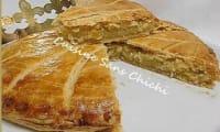 Galette des rois, à la crème d'amandes, pâte feuilleté maison