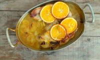 Rouelle de porc à l'orange