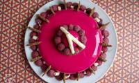 Entremets chocolat framboise