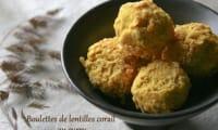Boulettes de lentilles corail au curry
