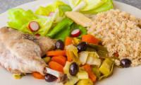 Canard aux légumes d'hiver et aux olives