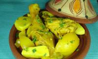 Poulet au citron confit en tajine