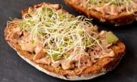 Tartines au foie de morue