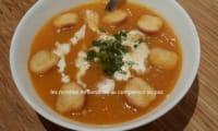 Velouté de carottes au cumin et lait de coco au companion