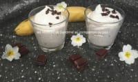 Mousse de bananes aux pépites de chocolat