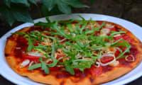 Pizza à la roquette