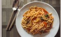 Des pâtes sauce tomates et fenouil