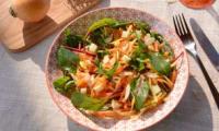 Salade de navets boule d'or râpés, sucré salée