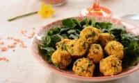 Falafels aux lentilles corail et épinards