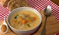 Soupe paysanne à la crème de miso