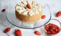 Gâteau des Anges à l'érable et aux fraises de Plougastel