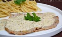 Escalopes de veau, sauce aux échalotes et Riesling