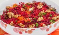 Salade de carottes et betteraves nouvelles