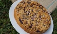 Crumble pie myrtilles, mûres et lavande