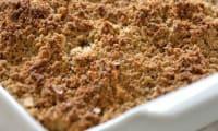Crumble aux pommes sarrasin-noisettes