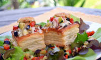 Bouchées feuilletées à la provençale, béchamel au parmesan