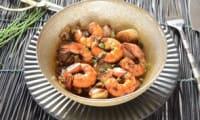 Fricassée d'endives aux crevettes et miel
