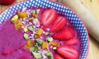 Smoothiebowl fruits rouges et avoine