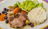 Joues de porc aux olives