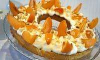 Tarte amandine, abricots et romarin