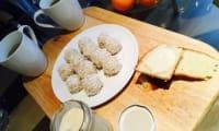 Boules coco-miel et crème de banane