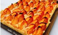 Tarte pâtissière abricots